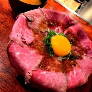 焼肉屋さんのローストビーフ丼♡