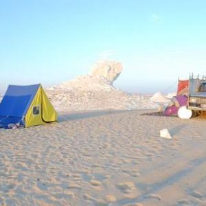 【エジプト】白砂漠でキャンプ
