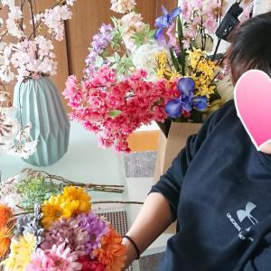 アーティフィシャルフラワーでお家お花見