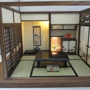 「手作りドールハウス◆和1/12 6畳京町屋 奥座敷」ヤフオク出品しました。