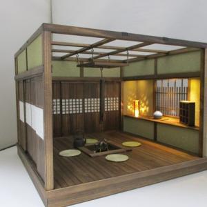 「手作りドールハウス◆和1/12 囲炉裏 釣火棚」ヤフオク出品しました。