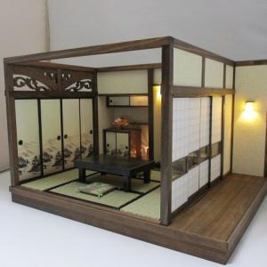 手作りドールハウス◆和1/12 6畳京町屋 奥座敷  ヤフオク出品しました。