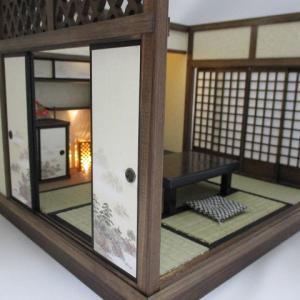 手作りドールハウス◆和1/12 古民家6畳座敷 ヤフオク出品出品しました。