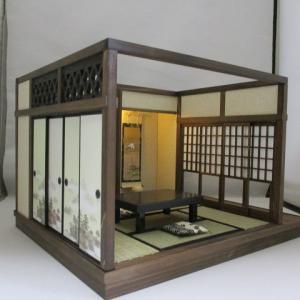 「手作りドールハウス◆和1/12 6畳京町屋 奥の座敷」ヤフオク出品出品しました。