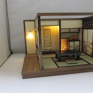 「手作りドールハウス◆和1/12 古民家 6畳離れ松の間」ヤフオク出品しました。