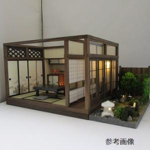 6畳京町屋奥の間 廊下ガラス戸と板塀の中庭