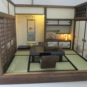 手作りドールハウス◆和1/12 6畳 古民家の宿  ヤフオク出品出品しました。