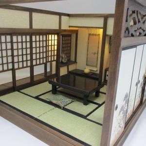 手作りドールハウス◆和1/12 本格和室 書院付8畳和室