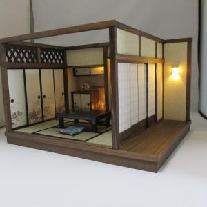 「手作りドールハウス◆和1/12 6畳 古民家奥の間」ヤフオク出品しました。
