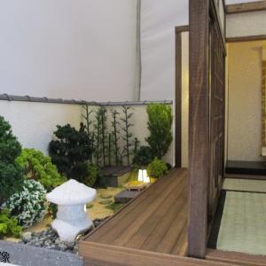 手作りドールハウス◆和1/12 「古民家風 6畳離れの宿」「白壁の通り庭」