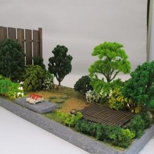 手作りドールハウス◆和1/12 6畳用 板塀の中庭
