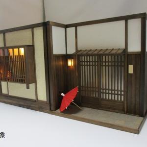 手作りドールハウス◆和1/12 6畳 「京町屋 玄関」 「京町屋表の間」「板塀の中庭」