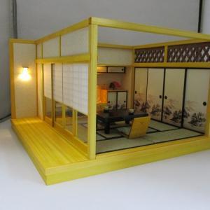 「手作りドールハウス◆和1/12 温泉宿 8畳客室」ヤフオク出品しました。