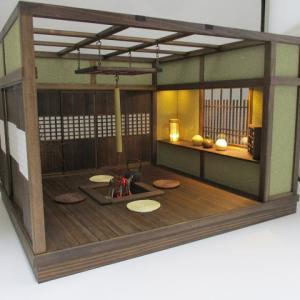 「手作りドールハウス◆和1/12 囲炉裏 釣火棚」ヤフオク出品中です。
