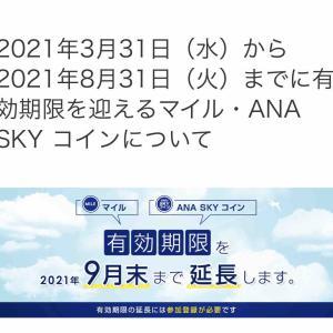 ANA有効期限を迎えるマイルの延長手続き 登録が必要です!