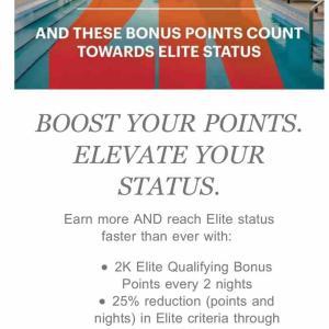 IHG 2泊ごとに2000ボーナスポイントがもらえ、エリートステータス達成のポイントにも加算されちゃうキャンペーン開催中!