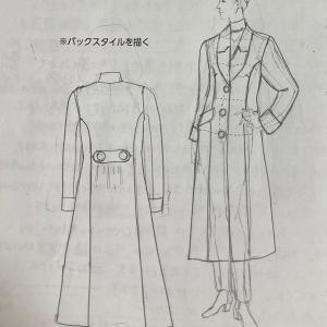 文化服装学院 服装コース 4分の1縮寸 コートの作図