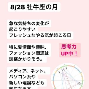 【8/28 牡牛座の月】予想外の変化が楽しい日!