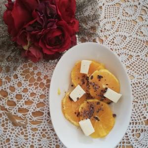 カカオニブの人気レシピ!オレンジとカカオニブとクリームチーズのサラダ