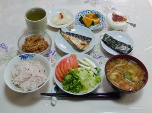 私の今日の食事(8月8日)