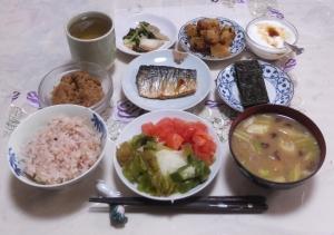 私の今日の食事(10月23日)