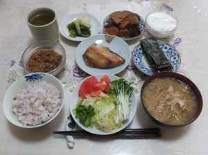 私の今日の食事(10月31日)