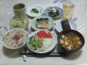 私の今日の食事(9月23日)