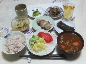 私の今日の食事(9月25日)