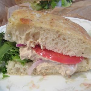 Panera Bread のツナサラダサンド&モダンカプレーゼサンド
