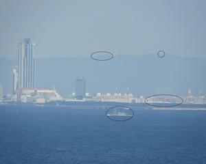 神戸から信貴山がみえるか確認しました