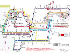 知らないところでバスに乗るには路線図は必携ですね