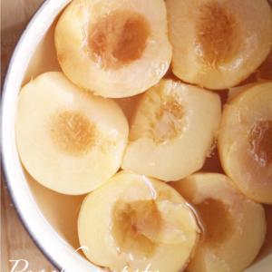 ◆作り方◆桃のコンポート