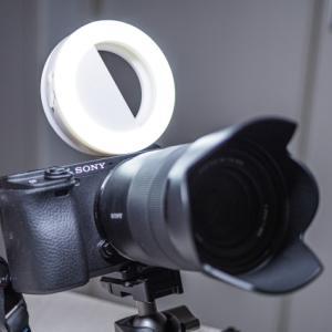 ・自撮りライトをカメラにつけてみた
