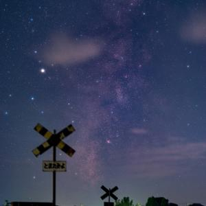 ・星と近景を同時に撮影する