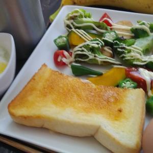 野菜いっぱいの朝食