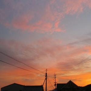 うん、さらに美しい夕焼け空。
