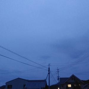 夕暮れブルー。