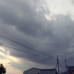 曇り空になった一日の終わり。