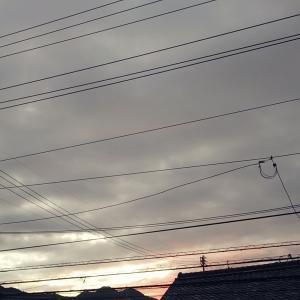 曇り空の早朝