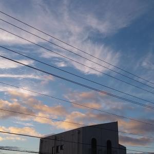 今朝もこんなかわいい雲たち