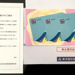 ★到着★【株主優待2020】東京個別指導学院