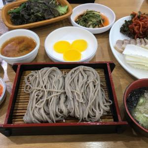 韓国のざる蕎麦。