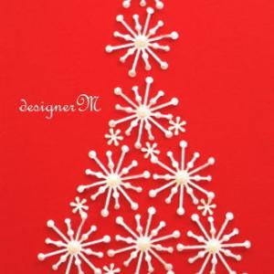 ★クラフトパンチでクリスマスツリー