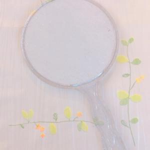 ★100円ショップの手鏡リメイク