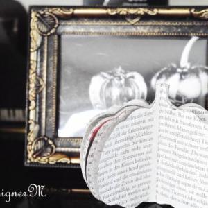 ★新聞紙を使ったハロウィン飾りHalloween decorations