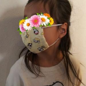 学童行くのに布マスク作成