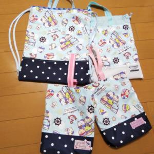 長女の体操服袋など一新