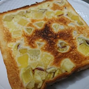 さつまいも食パンをトーストしてバターなしで食べたら・・・。