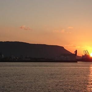 けさは、久しぶりに日の出を見ることができました。