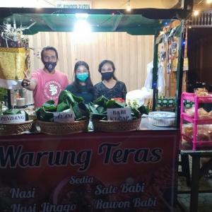 プリアタンのナシジンゴ屋台@Warung Teras